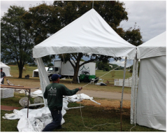 Tent rentals for $25 at Scout 75 Fest
